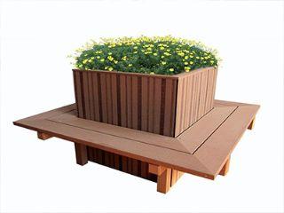 信阳塑木花箱,信阳户外塑木花箱批发,河南信阳圆形塑
