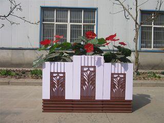 河南PVC塑木花箱,河南户外PVC种植花箱,河南p