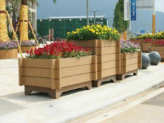 郑州公园花箱,塑木公园花箱生产,河南木塑公园花箱批