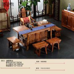 刺猬紫檀红木将军茶台茶桌/红木茶桌椅组合