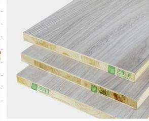 中国10大板材品牌百的宝18mm衣柜板材浅浅银灰