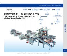 数控液压单卡、无卡轴旋切生产线