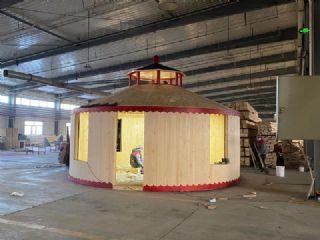 木质装配式蒙古包移动木屋