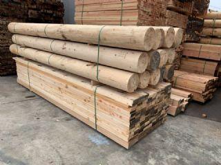 杉木圆柱实木柱子仿古建立柱防腐木板材铁杉圆木户外凉