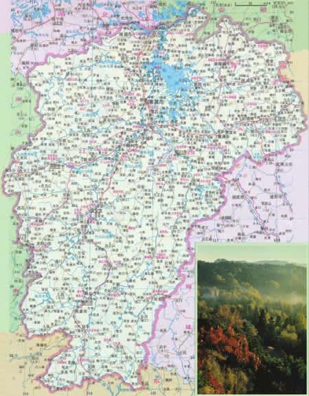 江西省行政区域图