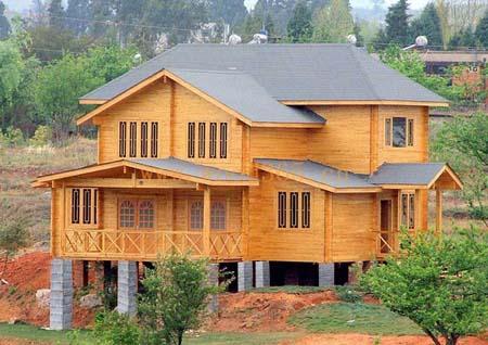 房屋建筑基本上是空白,木结构房屋是用木材做结构框架的轻型结构房屋