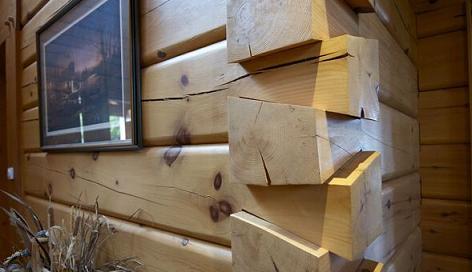 加拿大原木屋典型的转角结合方式