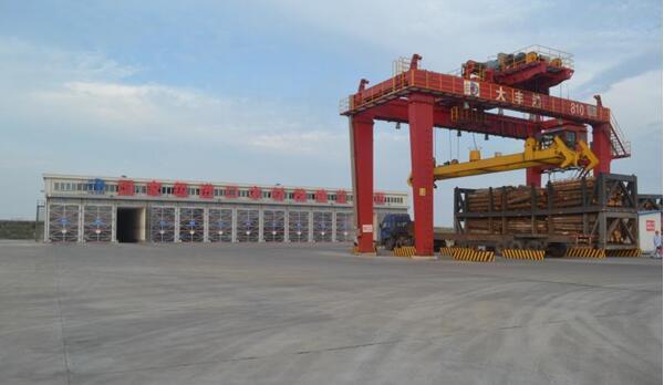 盐城大丰港进口木材检疫处理区投入使用